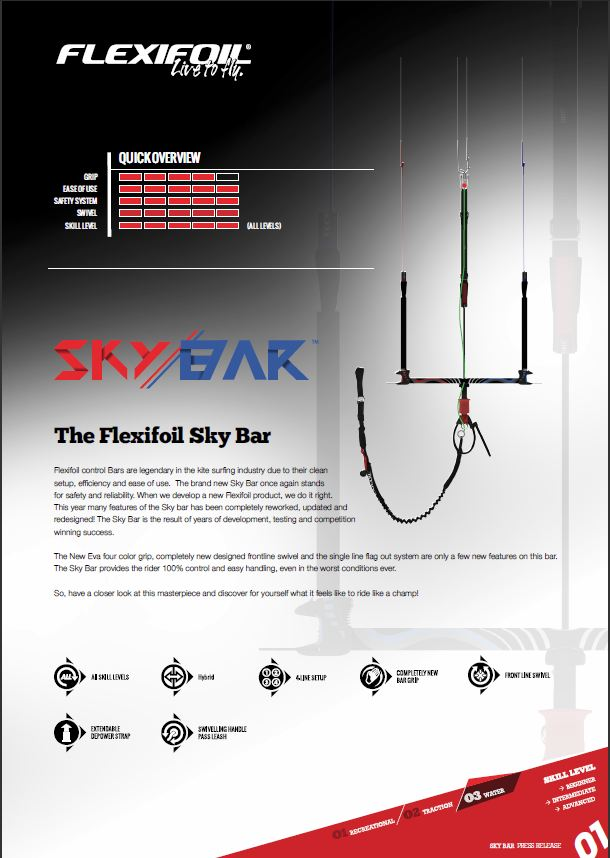 flexifoil sky bar in stock for sale