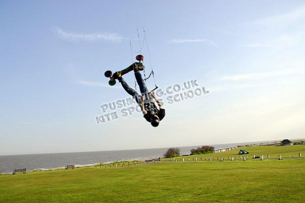 PUSHKiting Land Kiteboarding lessons in Suffolk