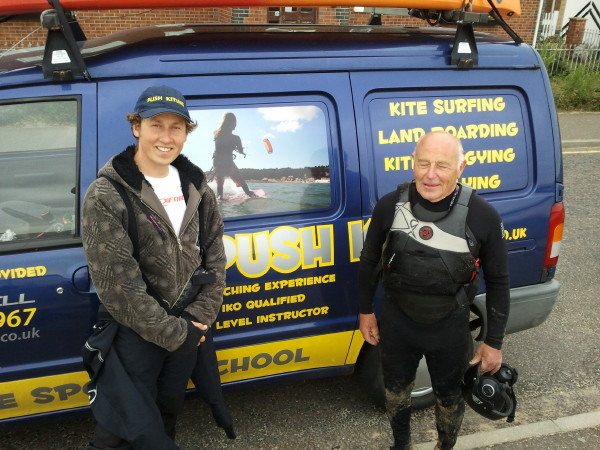 Kitesurfing student on lesson in Essex