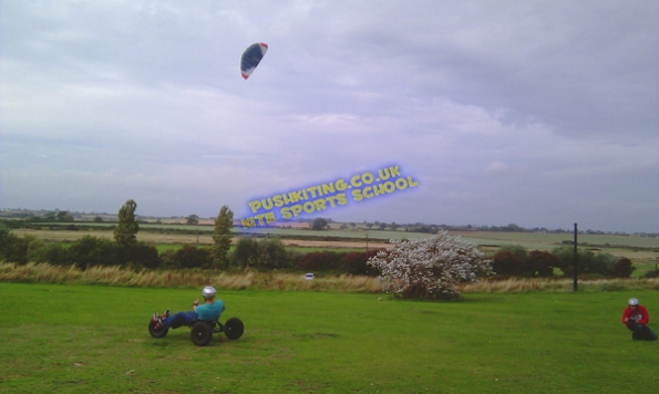 Students Kite buggy lessons in Essex