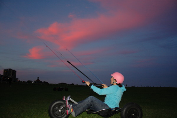 Kite buggy lesson with PUSH Kiting in Essex