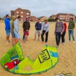 push kiting North kiteboarding kite lesson