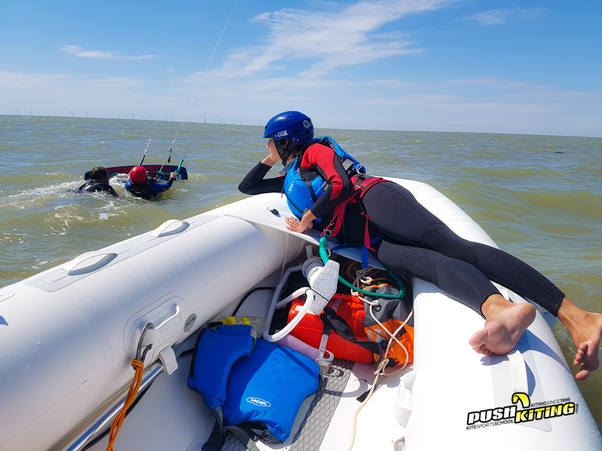 Private luxury Kitesurfing Lessons with boat support