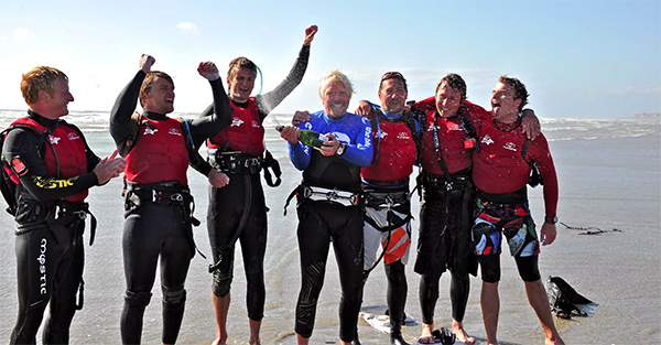 Push Kiting and RIchard Branson World Record