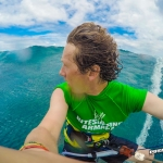 Surfing Waves in Mauritius