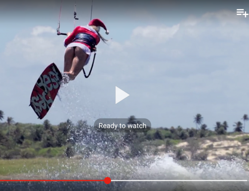 Hannah whiteley in Santa whiteley kitesurfing video
