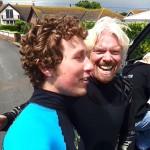 Sir Richard Branson Kitesurfing fun