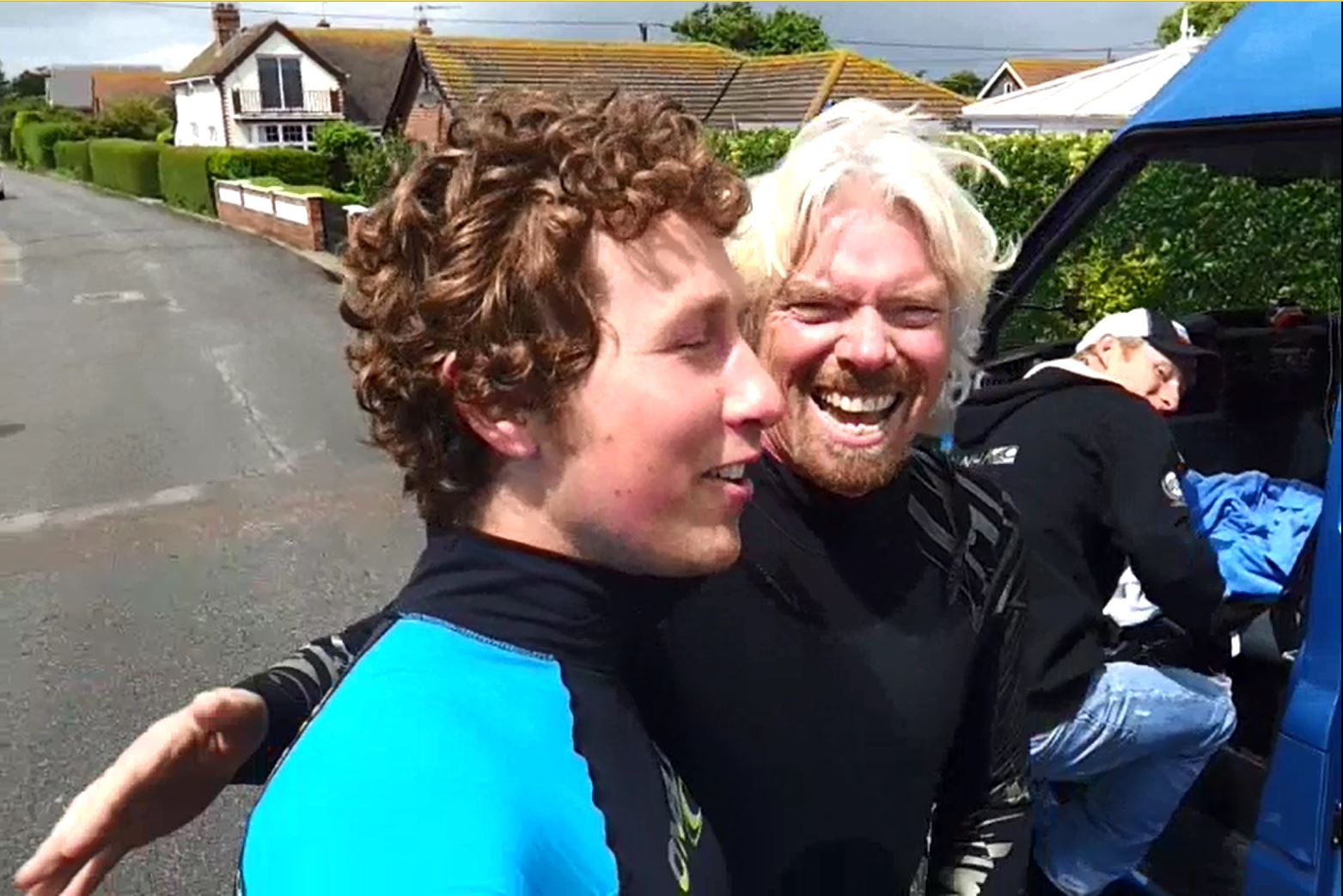 Sir Richard Branson Kitesurfing fun