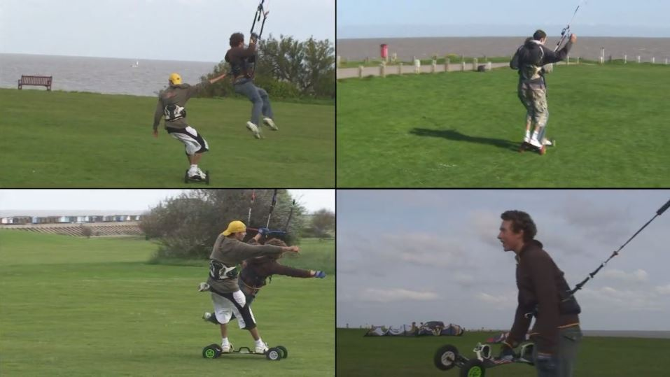 THIS IS FRINTON Extreme kite landboarding video
