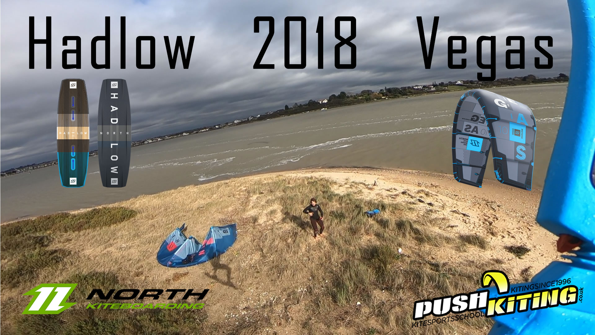2018 North Vegas Kite and Hadlow wake style kiteboard Video and Review