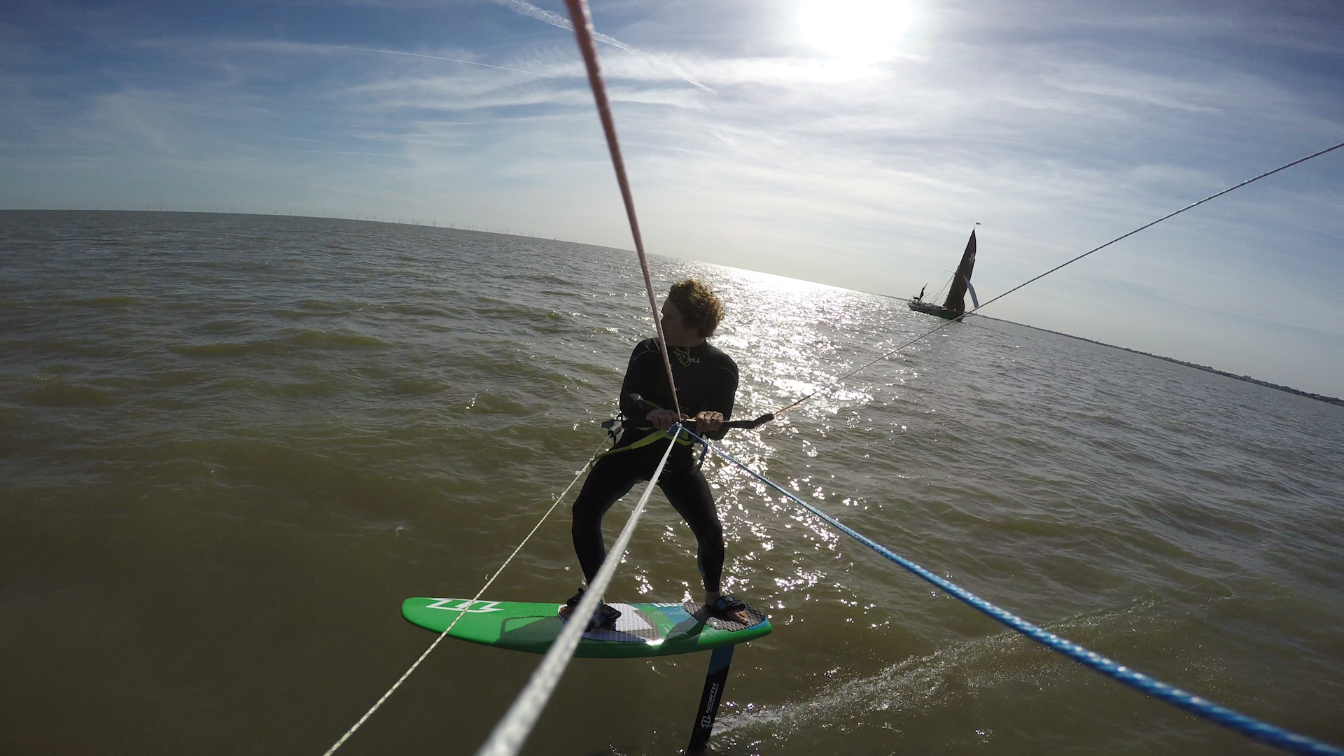 Hydrofoil kiteboarding introduction – learning to hydrofoil with push kiting kiteboarding school