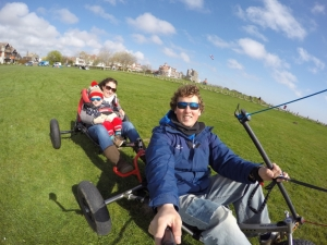 Tandem and Disabled Kitebuggy experience