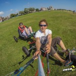 Disabled tandem kite buggy