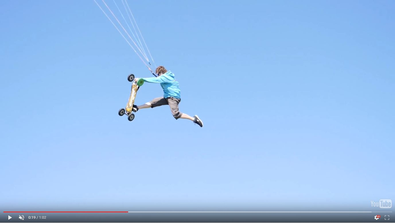 GH5 slow motion action kite boarding