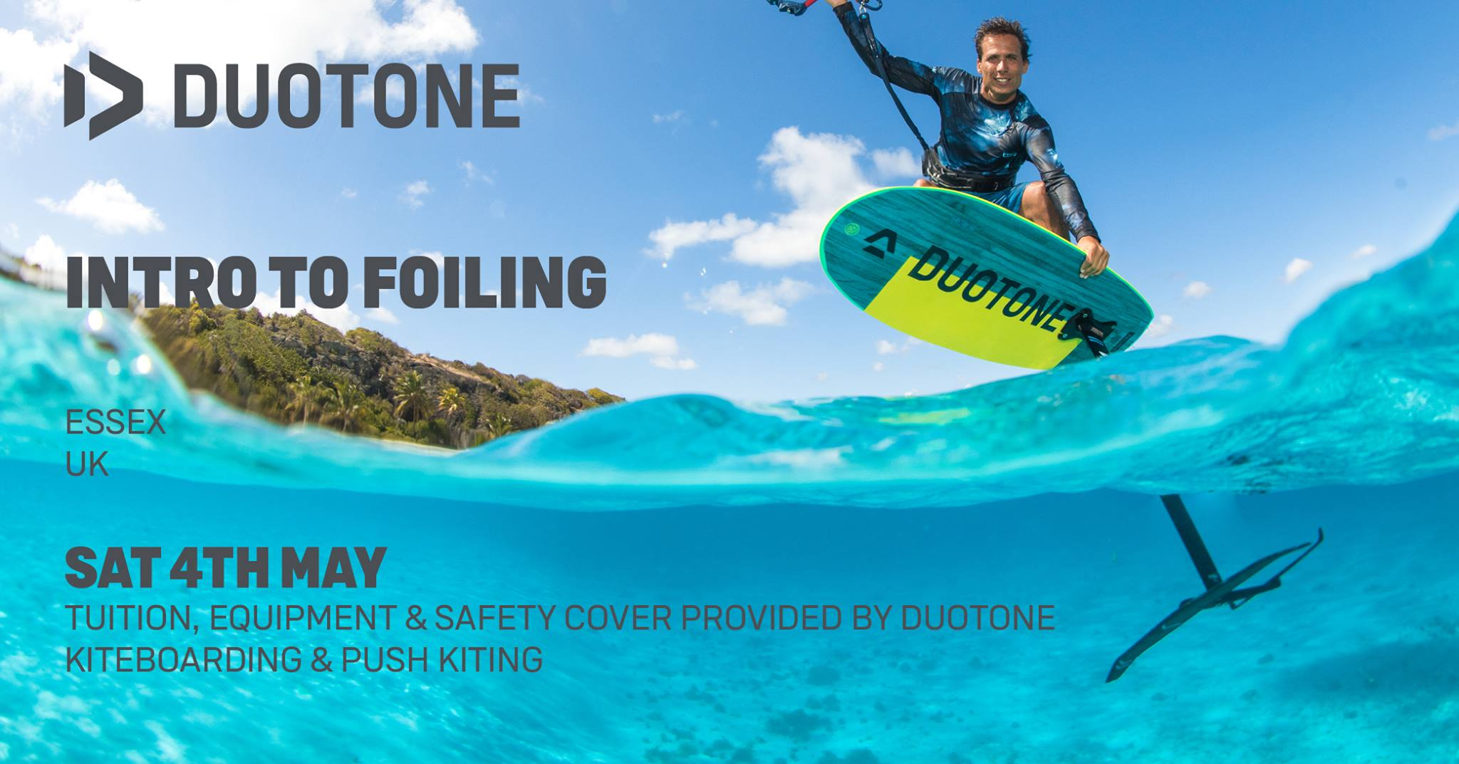 Duotone Hydrofoil Clinic in Essex – Free intro to Hydrofoiling